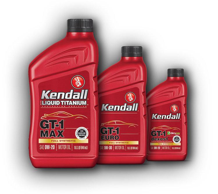Kendall GT-1 High Performance Motor Oil with Liquid Titanium