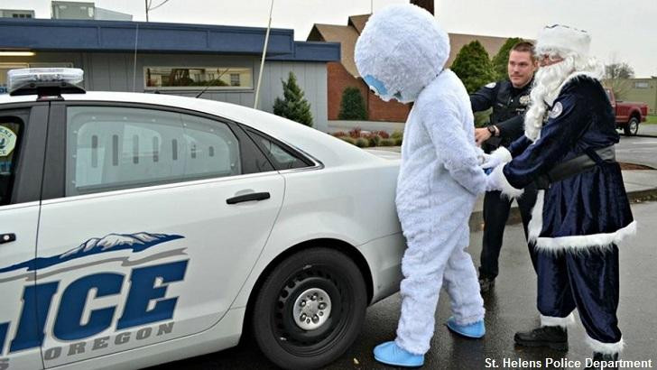 Cops 'Bust' Abominable Snowman
