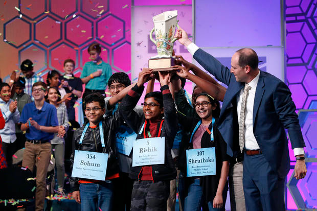 National Spelling Bee Ends in 8-way Tie After 20 Rounds
