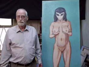 Artist claims that he lost his virginity to a busty alien