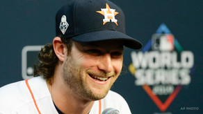 Two Women Flash Gerrit Cole During World Series