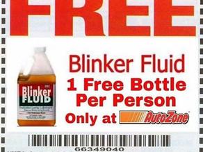 AutoZone is giving away a free bottle of blinker fluid