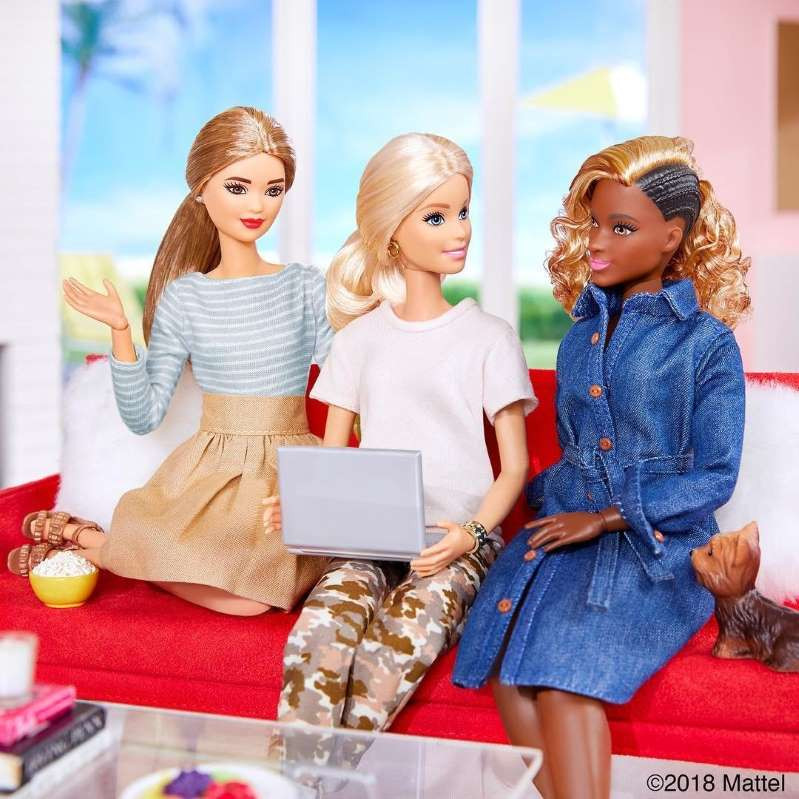 Black Barbie Doll's Cornrows