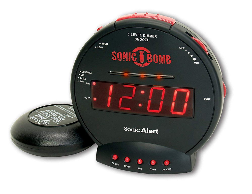 Sonic Alert Sonic Bomb Extra-Loud Alarm Clock