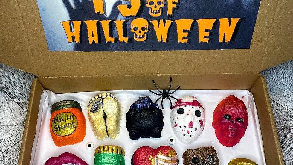 13 days Of Halloween Mini Bath Bomb Advent Set