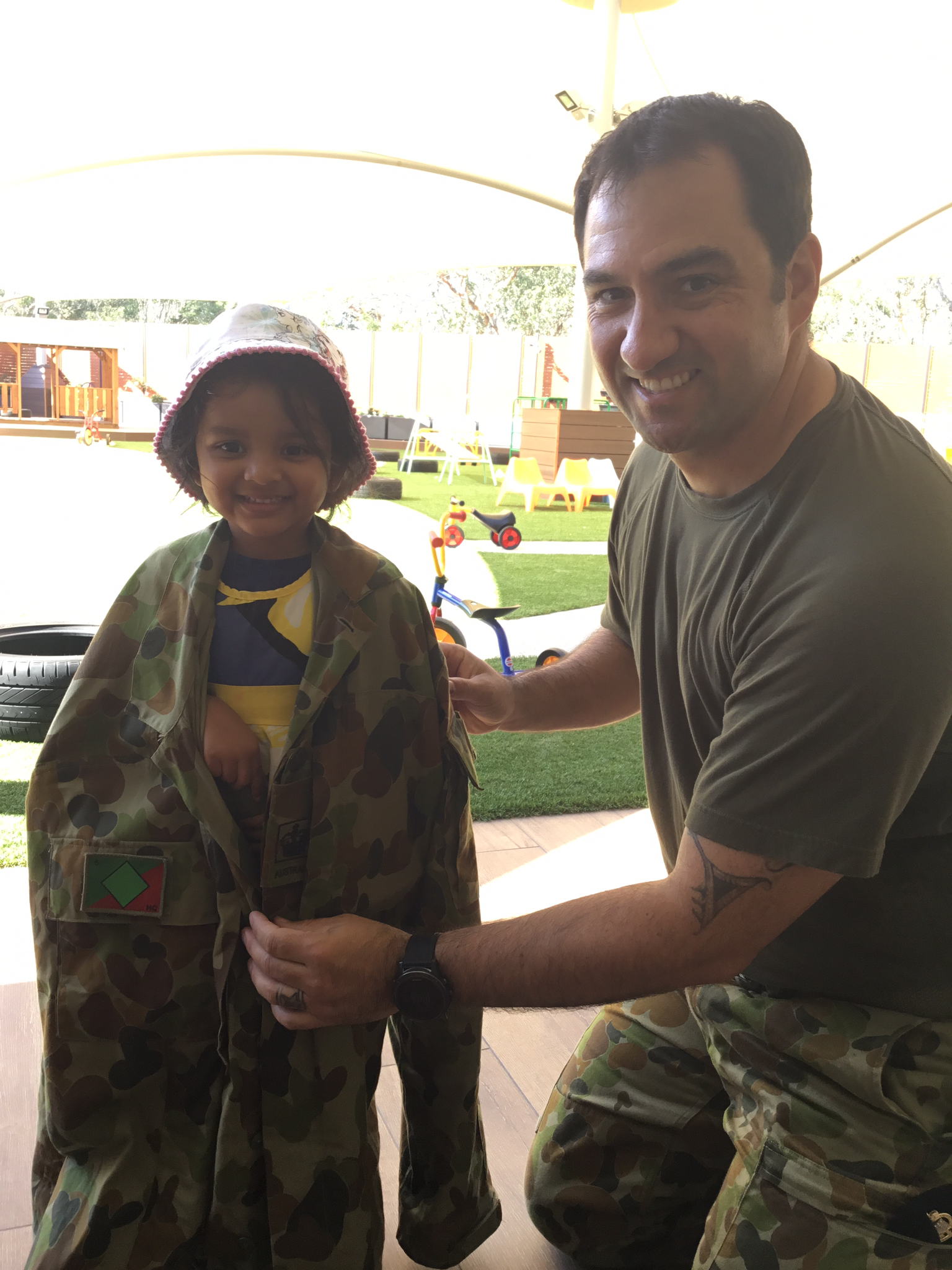 Anzac Day Army Visit