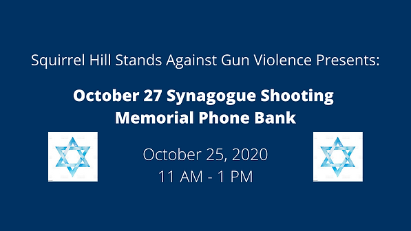 October 27 Synagogue Shooting Memorial P