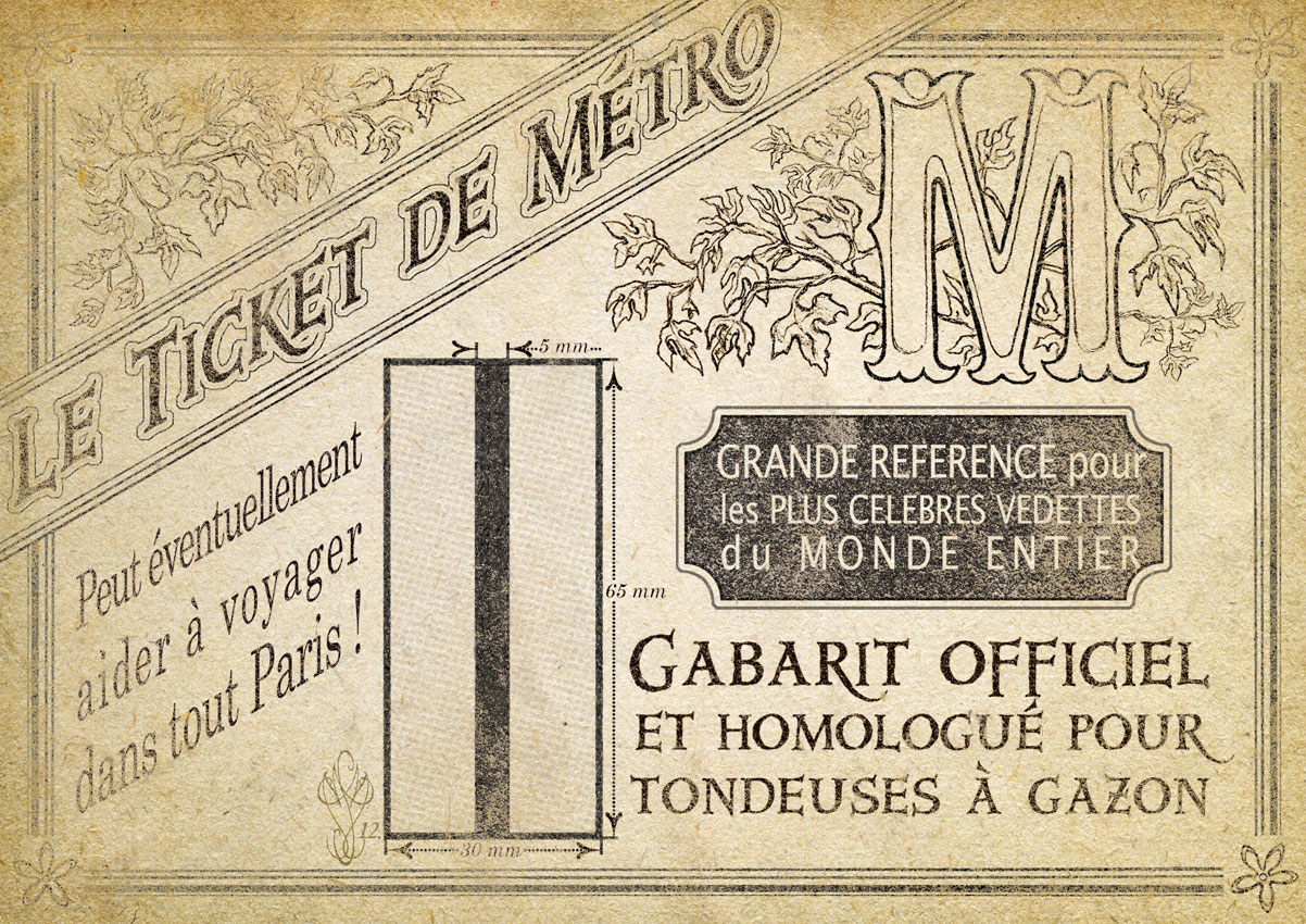 « LE TICKET DE MÉTRO »