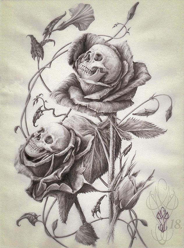 « SKULLS ROSES »