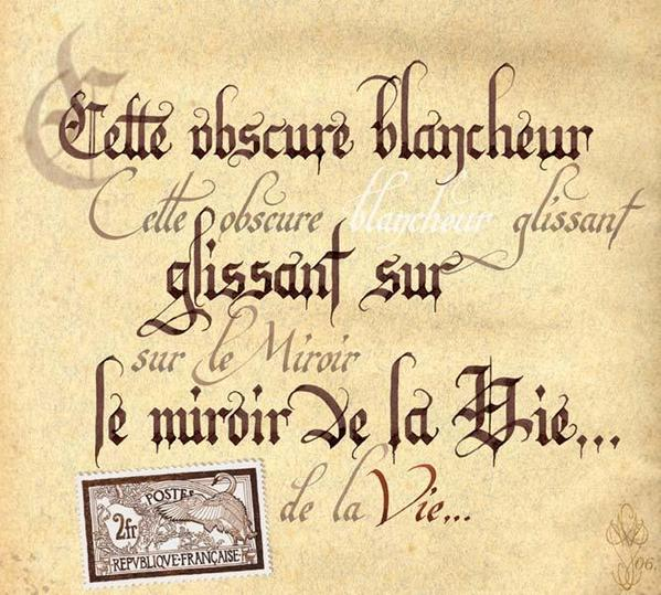 « OBSCURE BLANCHEUR »