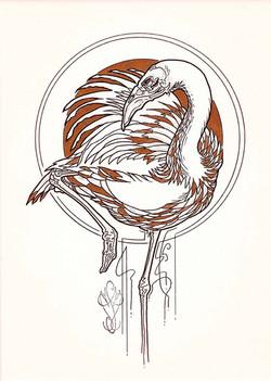« DARK BIRD - Flamant »