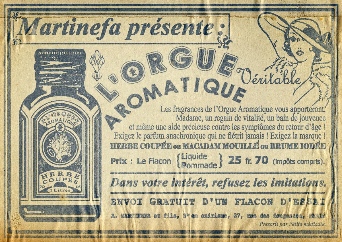 « L'ORGUE AROMATIQUE »