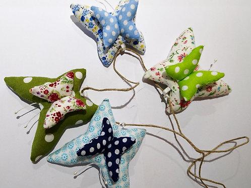 4 suspensions papillon séparables