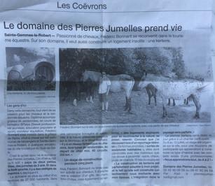 Le Domaine des Pierres Jumelles dans le journal