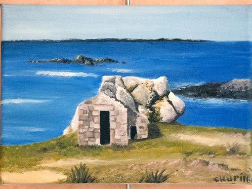 Ruine en bord de mer