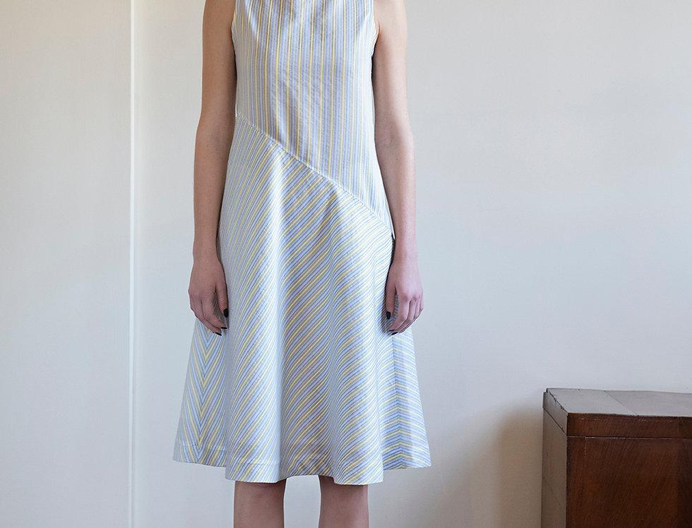 Gold Silk Bias-Cut Dress