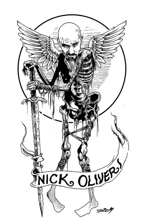 Nick Oliveri DEATH ACOUSTIC t shirt