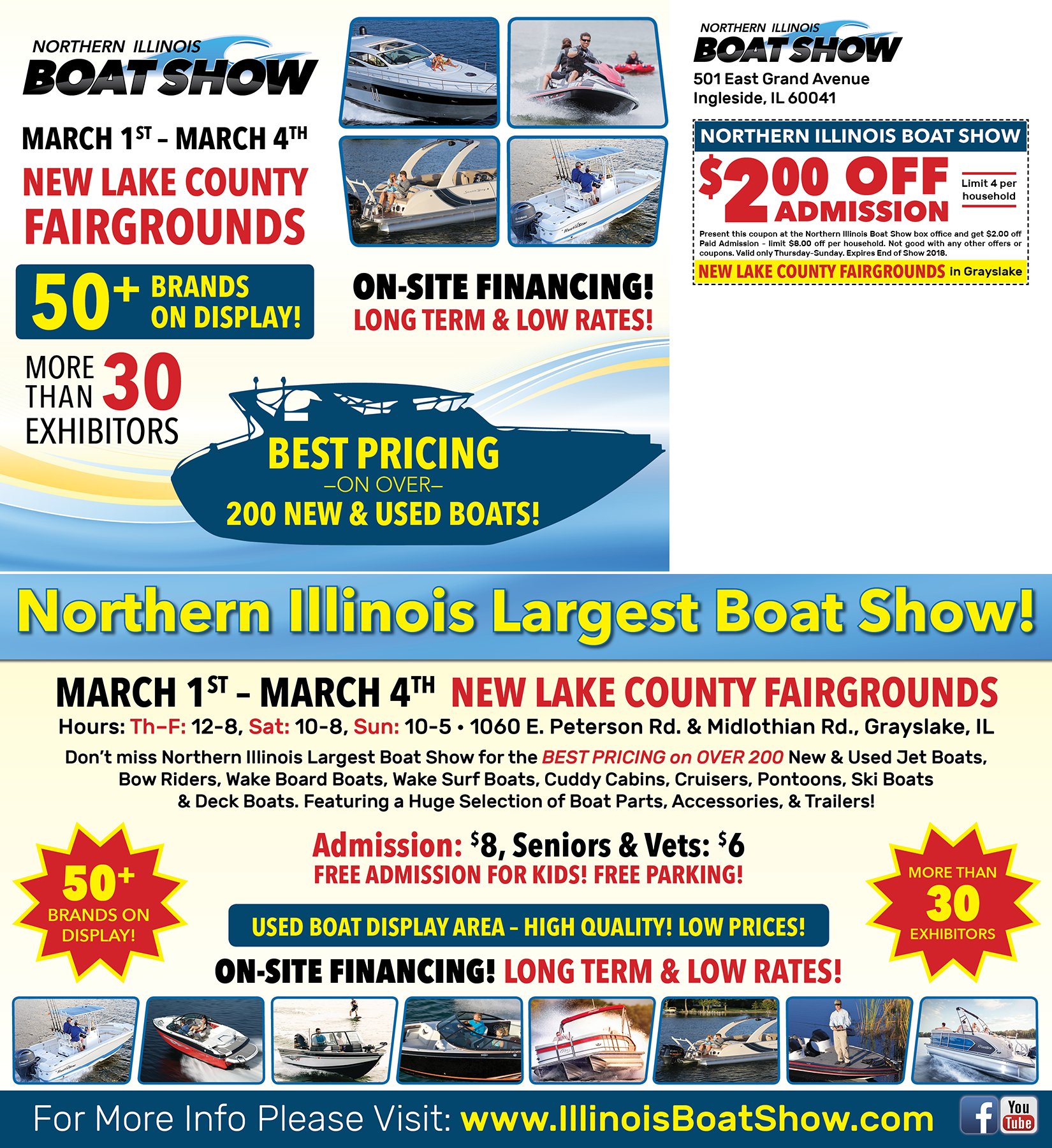 Northern Illinois Boat Show Postcard
