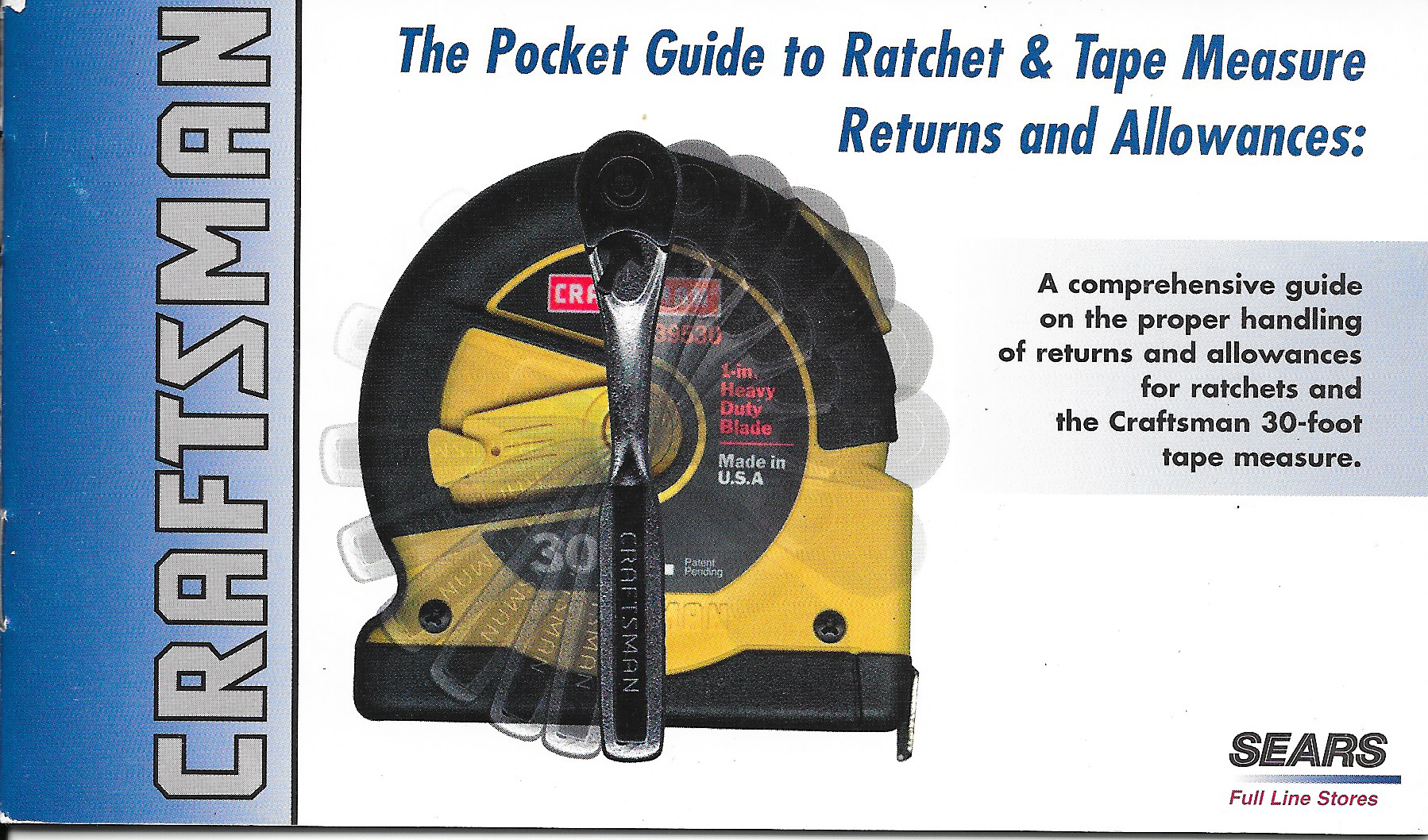 Craftsman Training Pocketguide