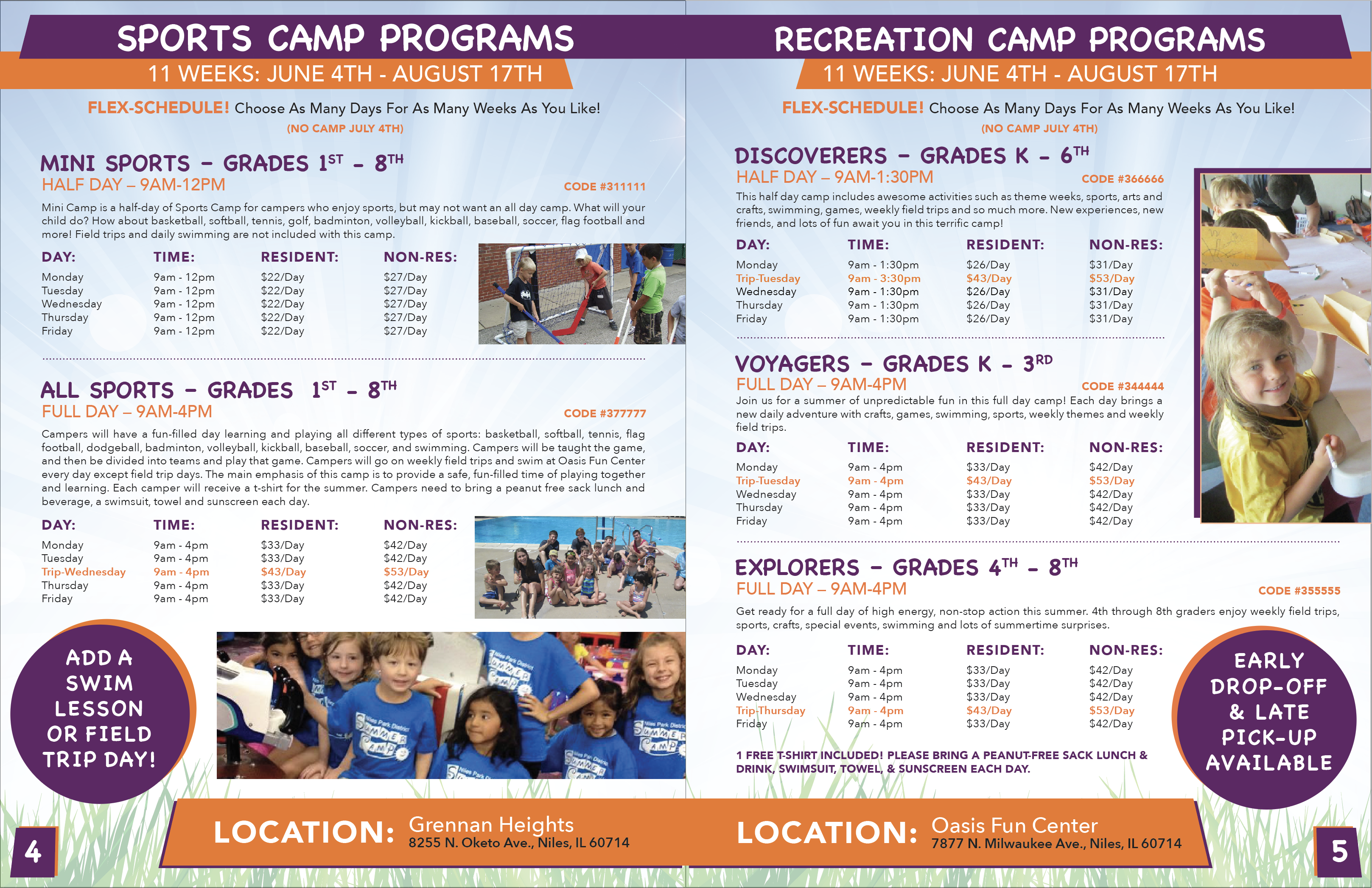 Niles Park Dist. Camp Catalog