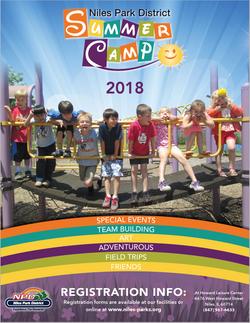 Niles Park Dist. Summer Camp Catalog
