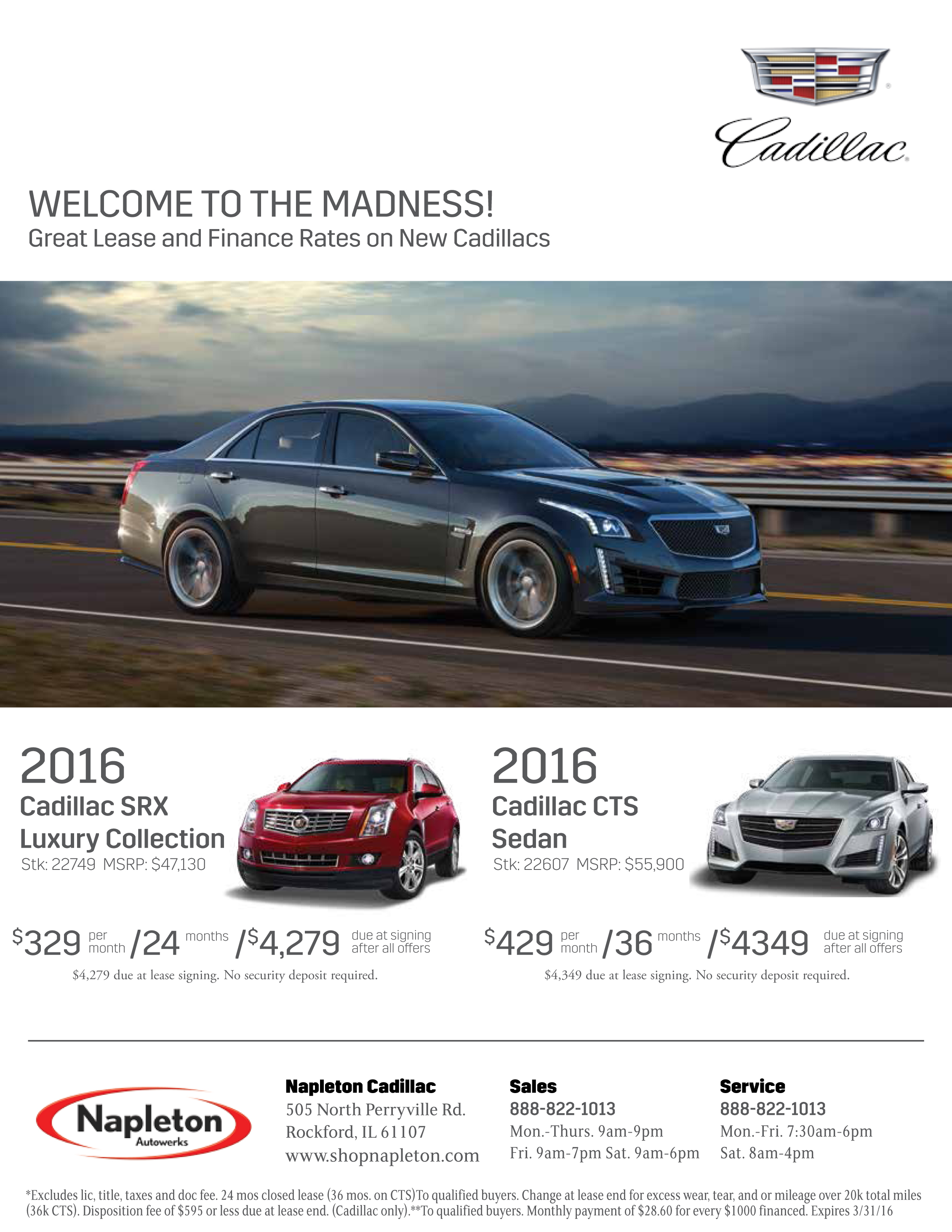 Cadillac Sales Letter