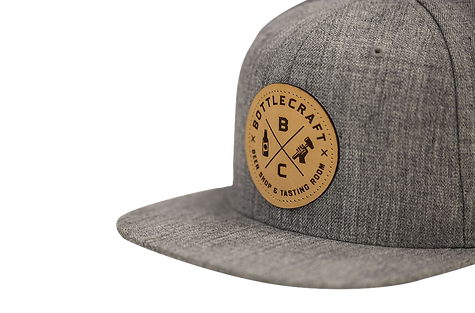 Laser Cut Leather Patch on Richardson Hat Laser Engraved Leather Patch