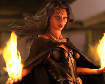 Dani Fire Portrait