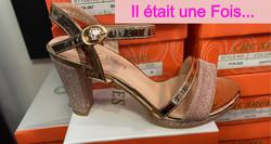 chaussures rose poudré