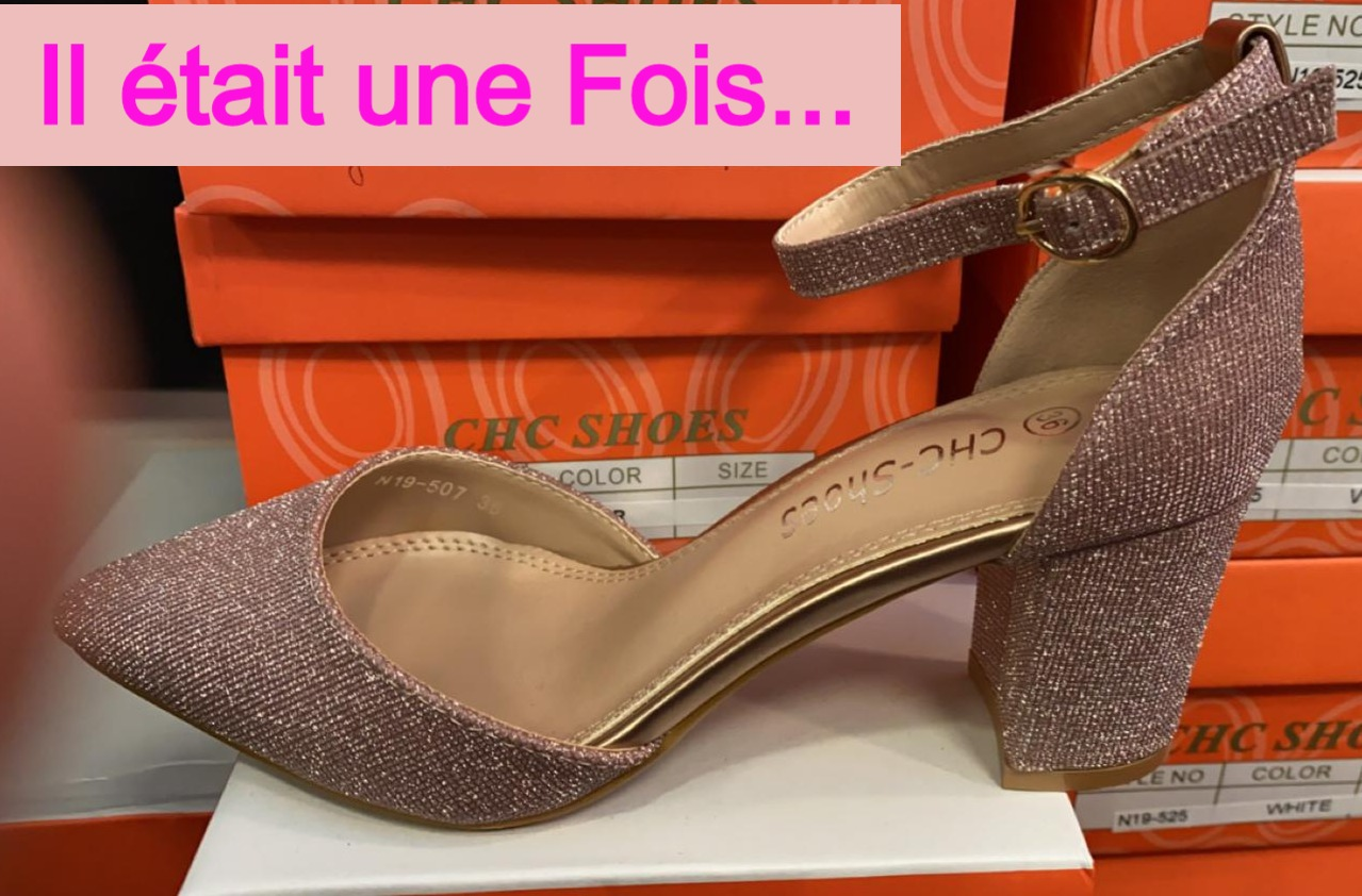 chaussures rose poudré