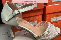 chaussures ivoire