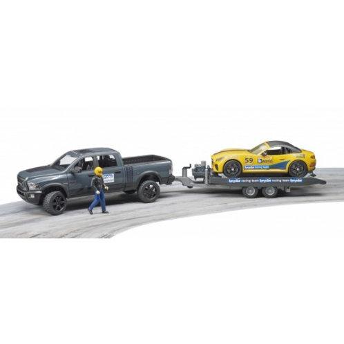 Bruder - Jeep RAM 2500 Power Wagon avec Roadster Racing Team et figurine