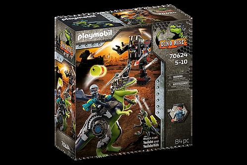 Playmobil -Dino Rise Tyrannosaure et robot géant