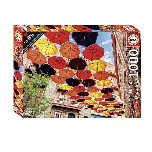 Educa -  Parapluies, Petit-Champlain, Québec 1000pcs