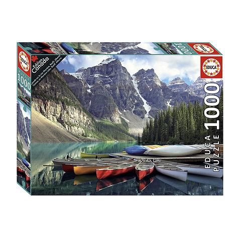 Educa - Canoës sur le Lac Moraine, Banff, Alberta 1000pcs