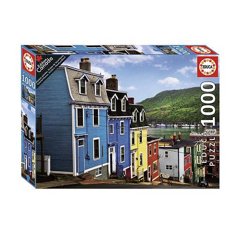 Educa - Maisons colorées, St-Jean de Terre-Neuve 1000pcs