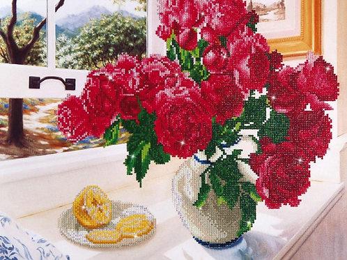 Diamond Dotz - Roses by the window