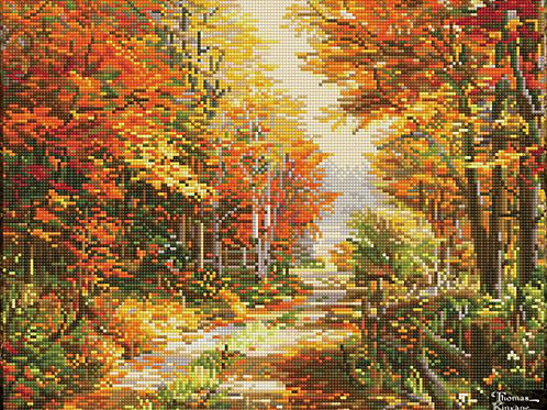 Diamond Dotz Thomas Kinkade- A Walk down Autumn lane