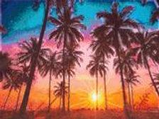 Diamond Art - Palm sunset