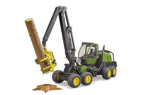 Bruder - Abatteuse John Deere 1270G avec 1 tronc d'arbre