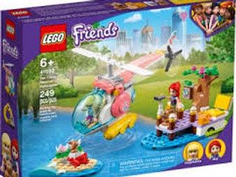 LEGO Friends - L'hélicoptère de sauvetage de la clinique vétérinaire