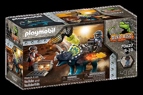 Playmobil - Dino Rise Triceratops et soldats