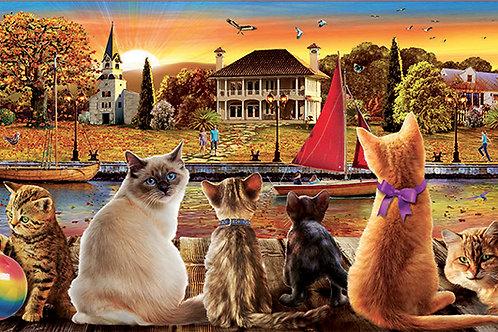 Educa - Des chats sur le quai 1000pcs
