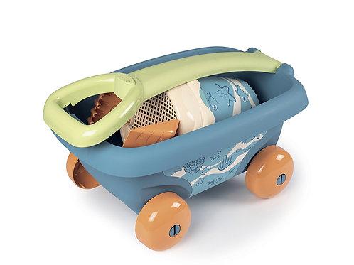 Smoby Green - Chariot de plage et accessoires