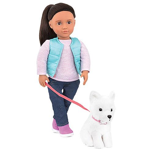 Poupée OG Pet Collection - Cassie 46 cm
