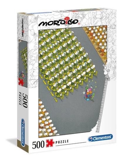 Clementoni - Mordillo Le Défilé 500pcs