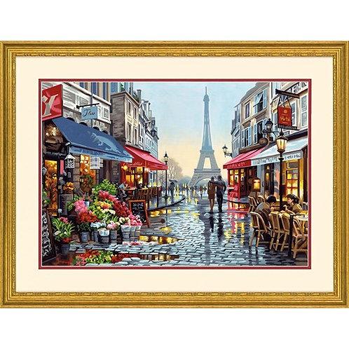 """Dimensions paintwork - Paris flower shop 20""""x14"""""""
