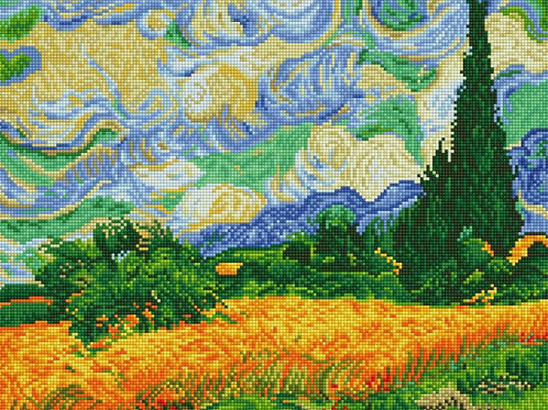 Diamond Dotz - Wheat Fields (Van Gogh)