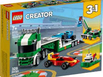 LEGO Créator - Le transporteur de voitures de course