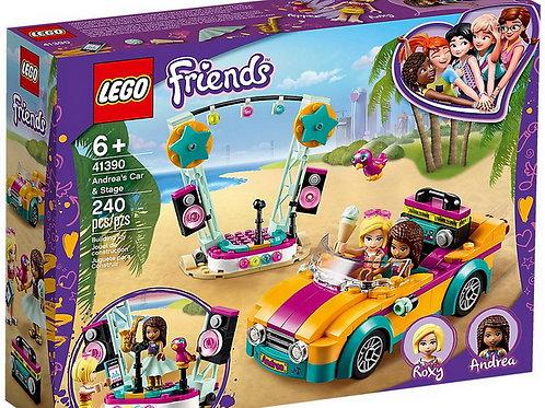 LEGO  Friends - La voiture et la scène d'Andréa